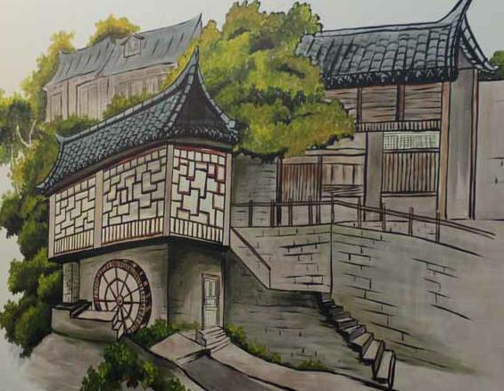 餐厅墙绘壁画【巴酒蜀食】