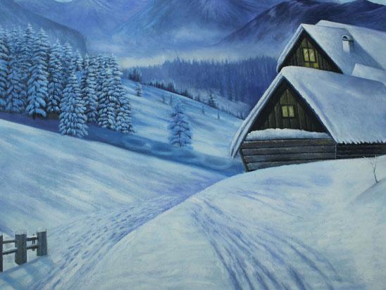 滑雪场彩绘【冰雪风情】