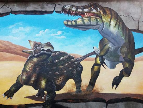 淄博恐龙3D立体画
