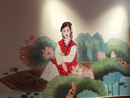 火锅店墙体彩绘【烫世界】