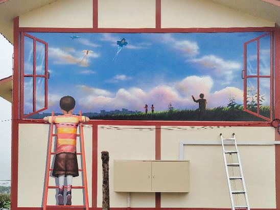 户外墙绘【重庆大型手绘墙】