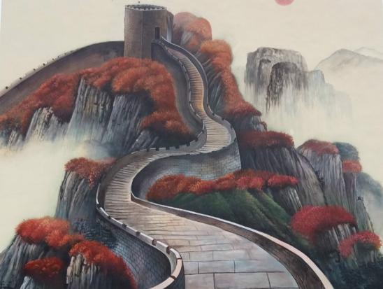 大型墙体彩绘【长城】