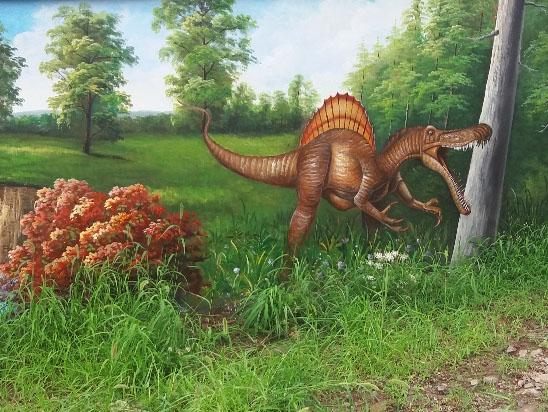 墙面涂鸦【侏罗纪森林】